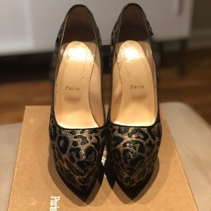 Christian Louboutin leopard shoes